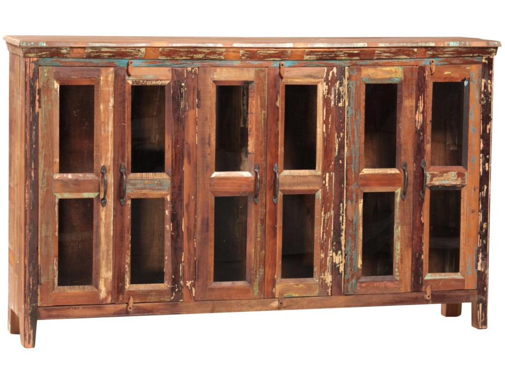 Dovetail furniture dovetail dining buffet w 6 doors
