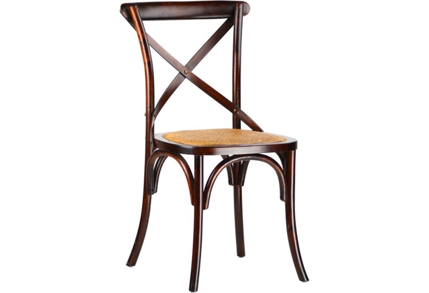 Dovetail Furniture Gaston X Back Side Chair Jacksonville Furniture Mart Dining Side Chairs
