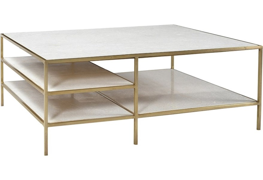 Dovetail Furniture Higgens Rectangular Coffee Table With Marble Top Story Lee Furniture Cocktail Coffee Tables