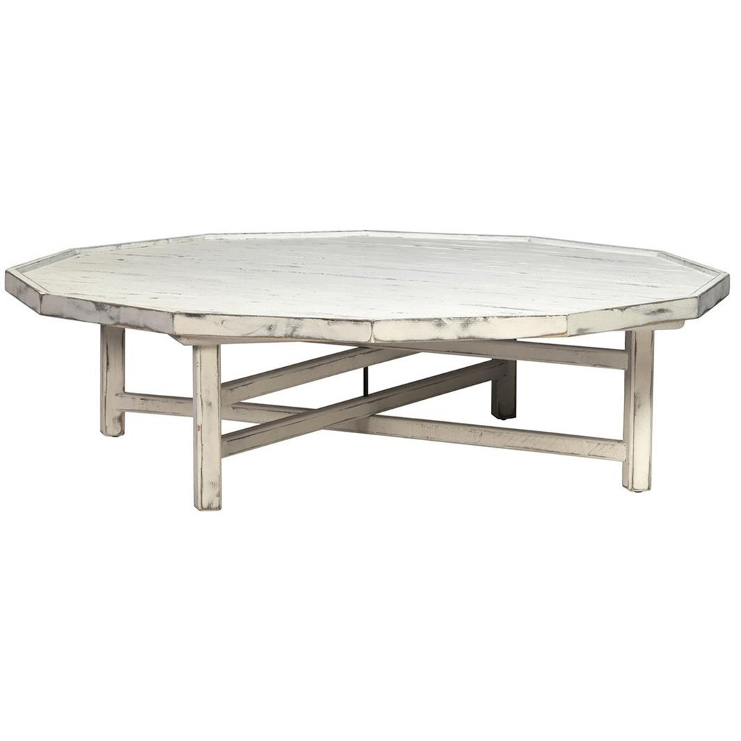 Dovetail Furniture Kilmaine Distressed Coffee Table
