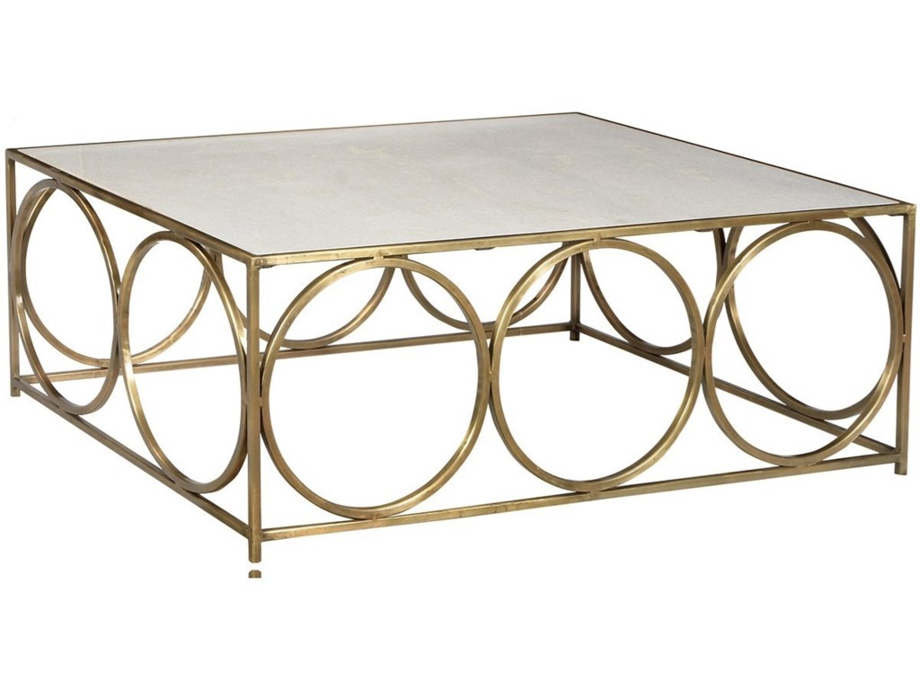 Dovetail Furniture Living Wharton Coffee Table With Polished Marble