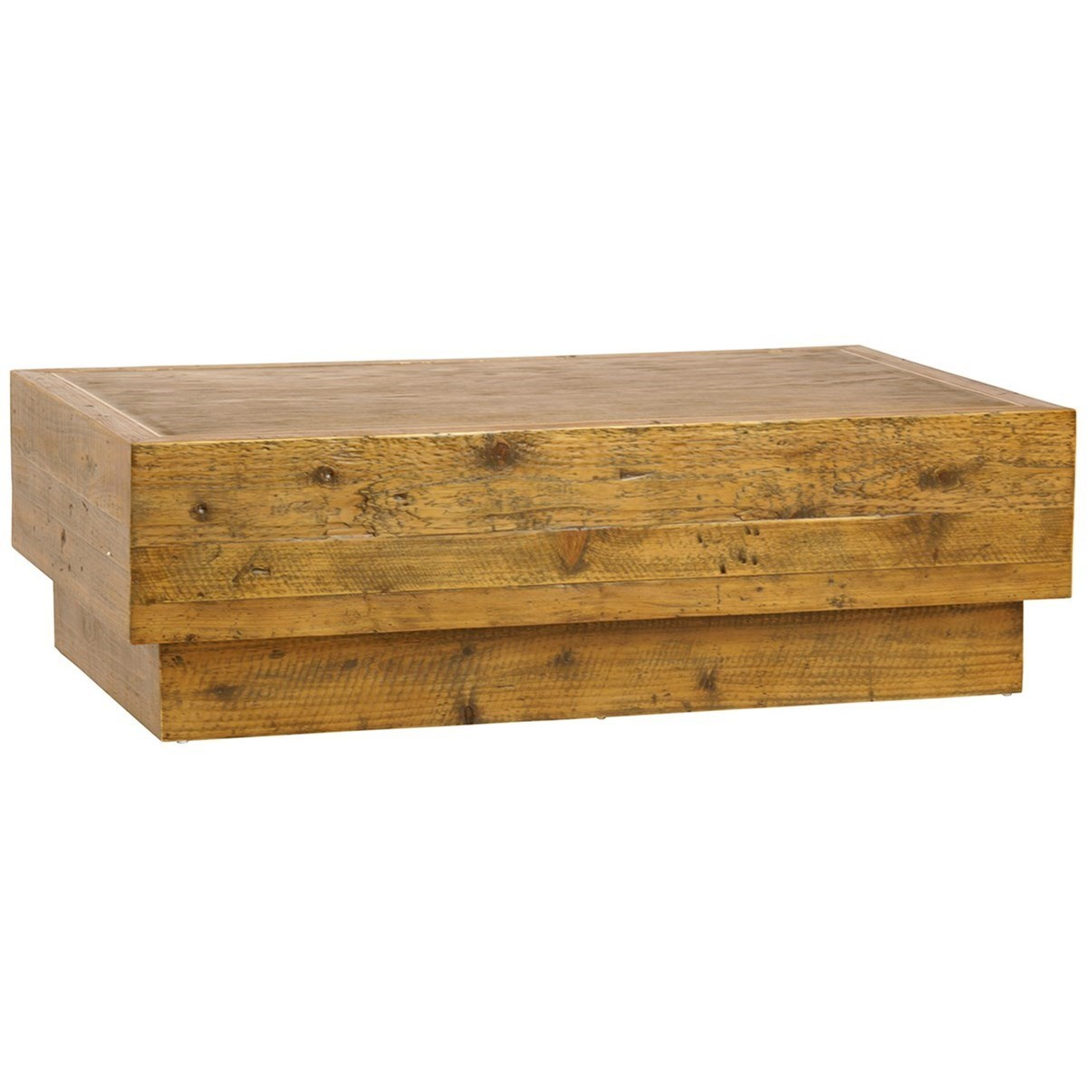 Dovetail Furniture Living Olaff Rustic Coffee Table