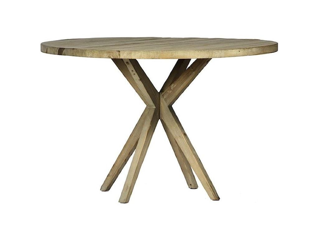 Dovetail Furniture Mallory Round Single Pedestal Table