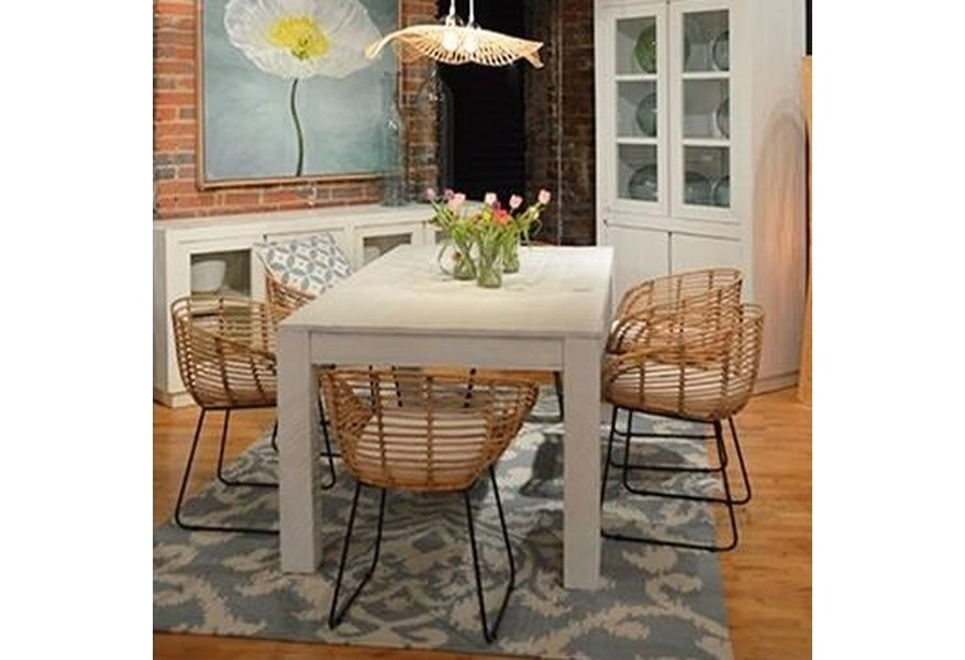 Miranda Dining Table White 72 By Dovetail Furniture At Jacksonville Mart
