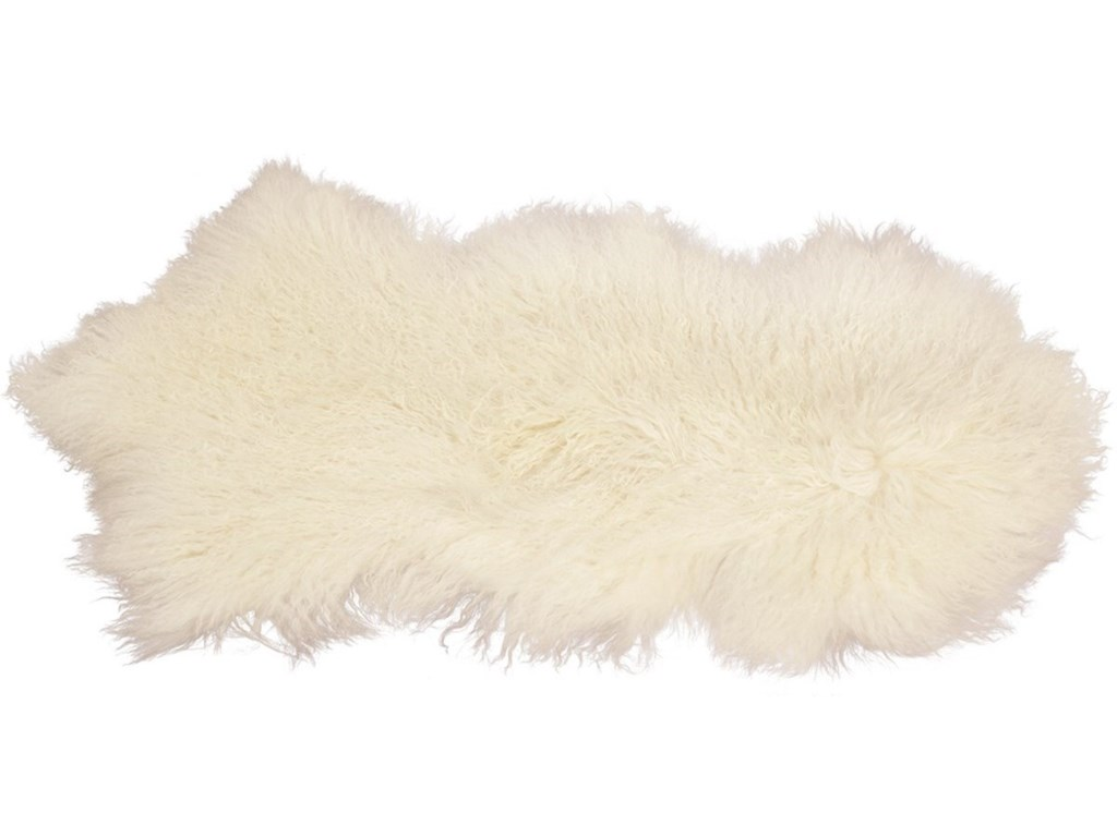 Dovetail Furniture MohairMohair White Rug