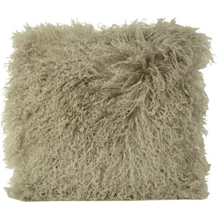 Mohair Light Grey Pillow