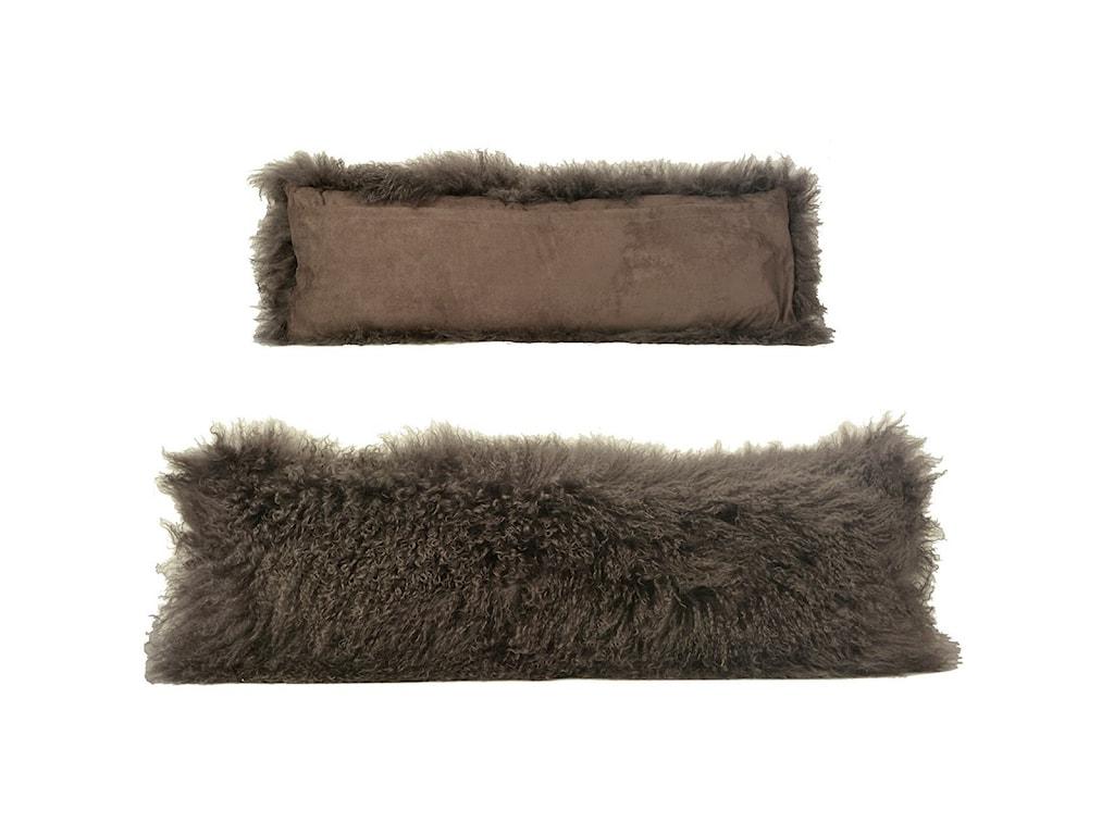 Dovetail Furniture MohairMohair Grey Pillow