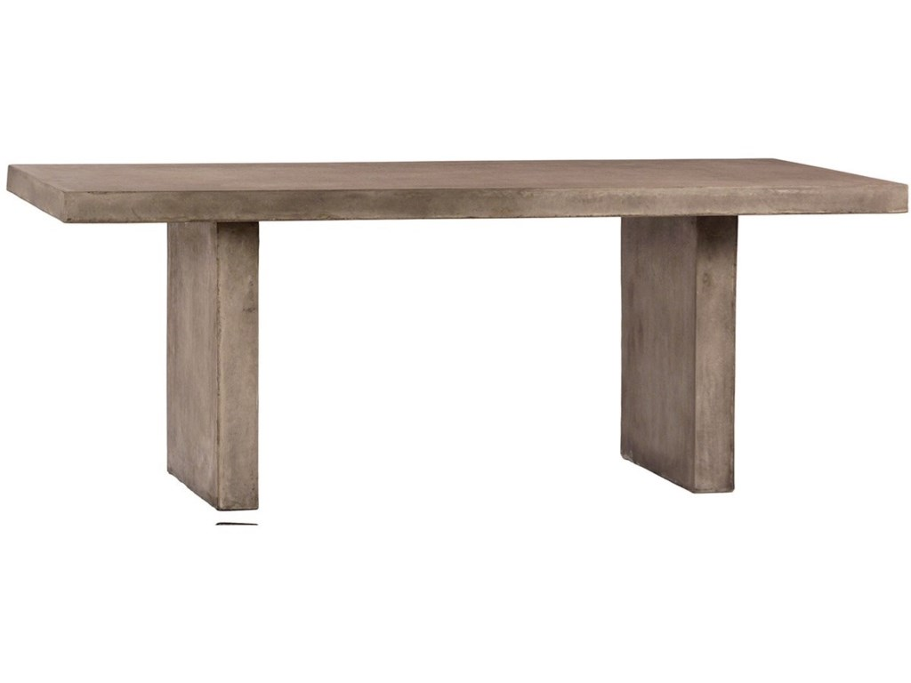 Dovetail Furniture Santino Santino Concrete Outdoor Dining Table