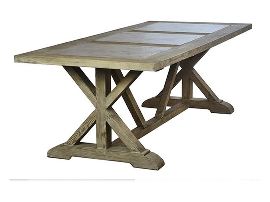 Dovetail Furniture Soloman Dining Table With Trestle