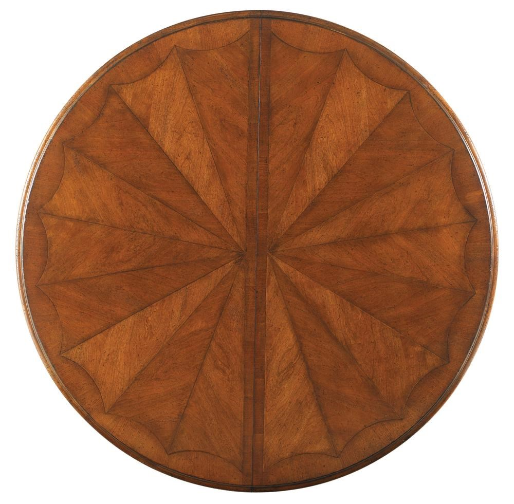 drexel at home in belle maison round table with two leaves