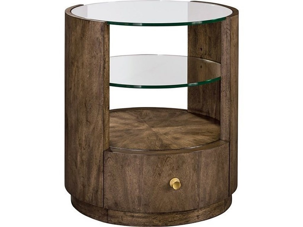 Belleville Newman Drum Table by Drexel at C. S. Wo & Sons Hawaii