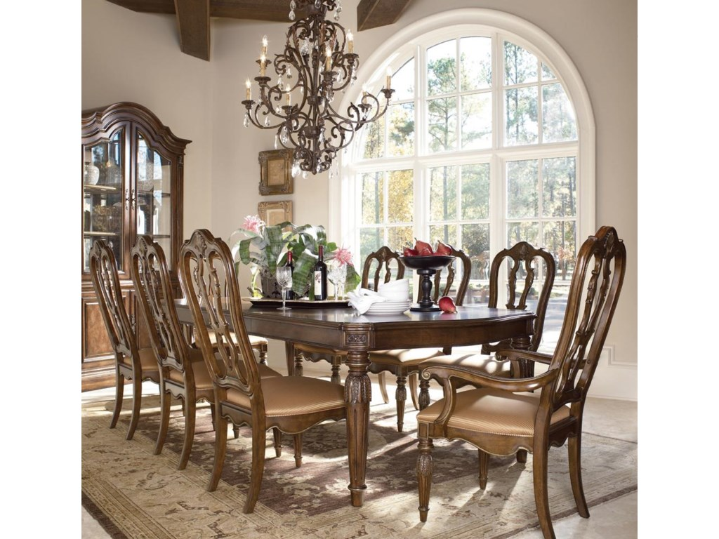 Drexel Heritage® Casa Vita 9-Piece Giordano Dining Table Set ...
