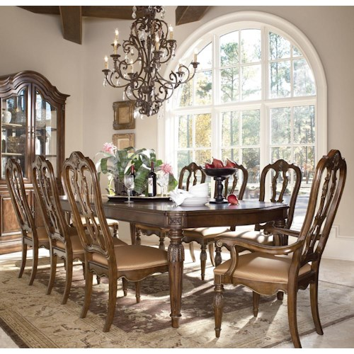 Drexel Casa Vita 9 Piece Giordano Dining Table Set