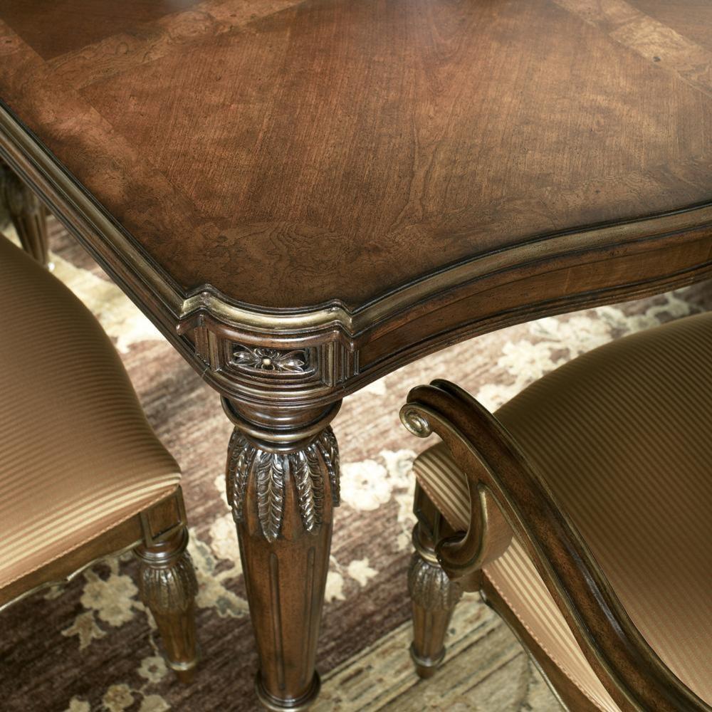 drexel casa vita giordano dining table with gold gilding baer u0027s