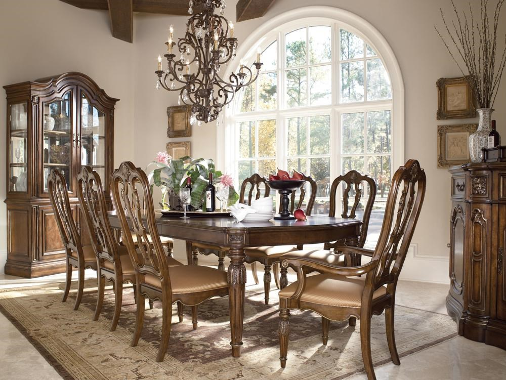 drexel casa vita giordano dining table with gold gilding - baer's