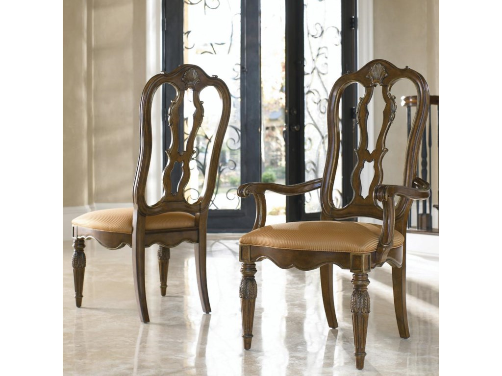 Shown with coordinating Rossi Side Chair