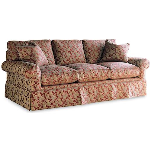 Drexel Heritage Upholstery Natalie Sofa W Skirt