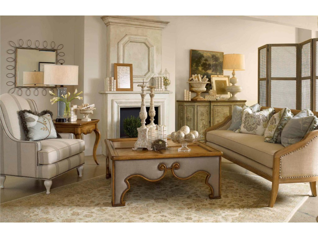 Shown in Room Setting with End Table and Mirror