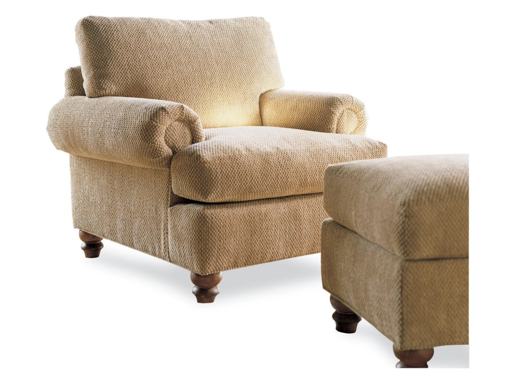 Drexel Options Upholstery ProgramCustomizable McDermott Chair and Ottoman