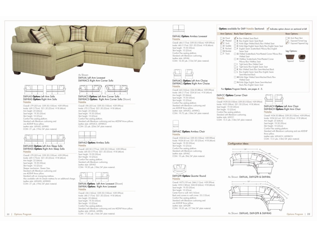 Drexel Options Upholstery Program<b>Customizable</b> Natalie Sectional