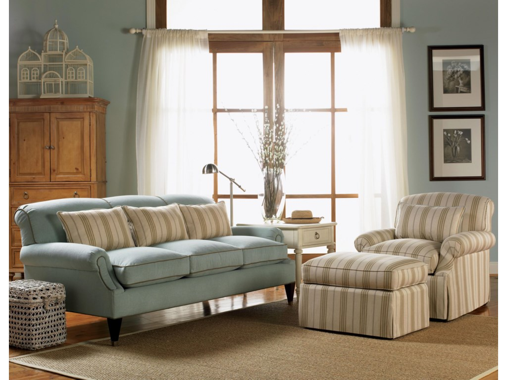 Shown in Room Setting with Chair and Sofa