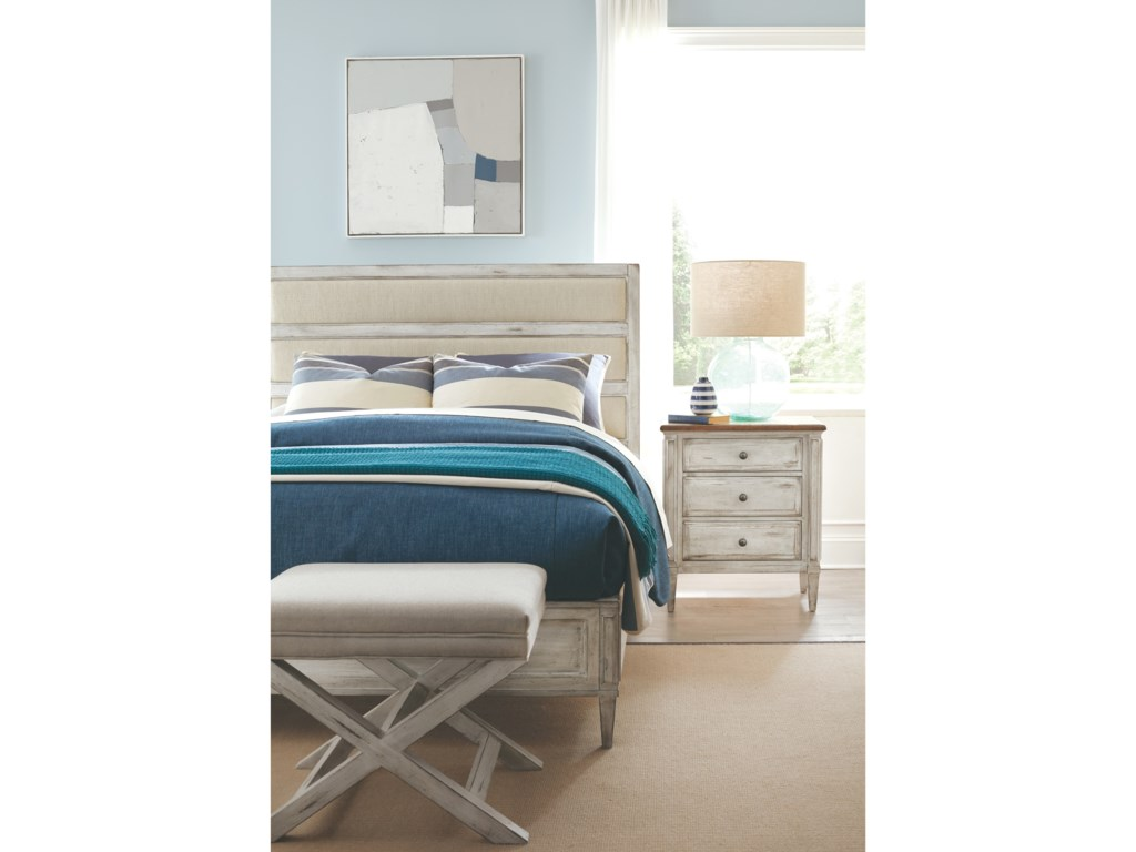 Durham  EscarpmentUpholstered  King Panel Bed