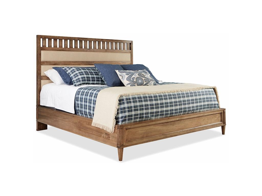 Durham  EscarpmentKing Upholstered Panel Bed