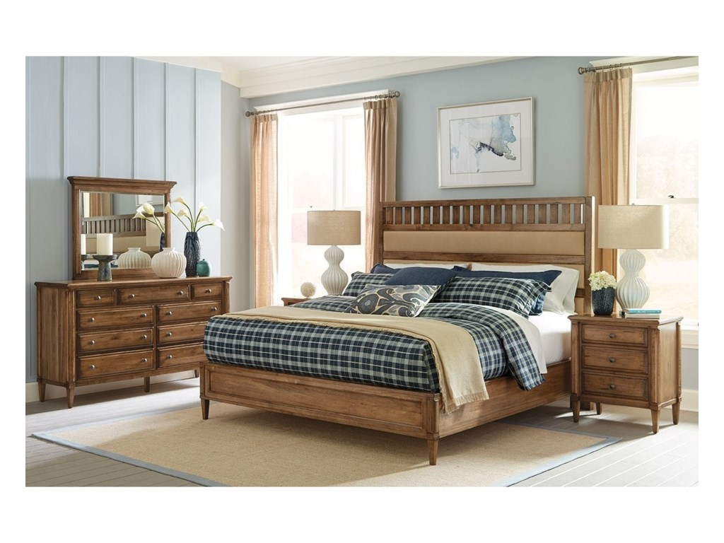 Durham  EscarpmentKing Upholstered Panel Bed