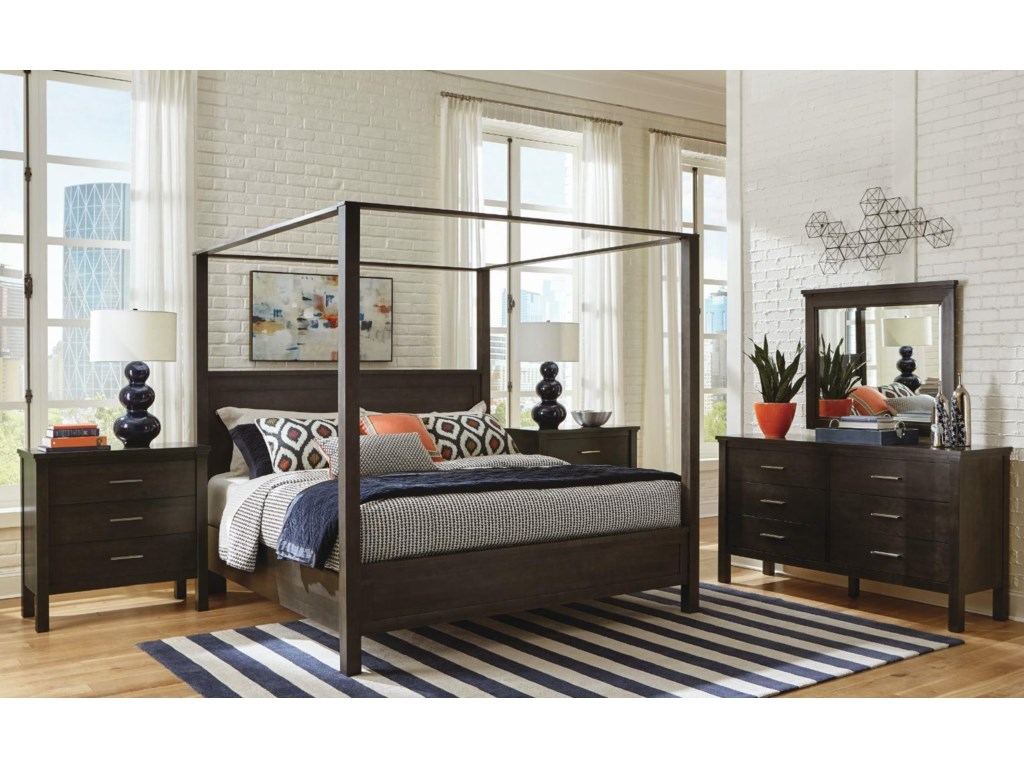 Durham 191King Poster Bed with Canopy