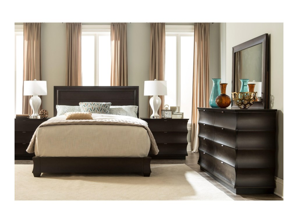 Durham CascataQueen Panel Bed