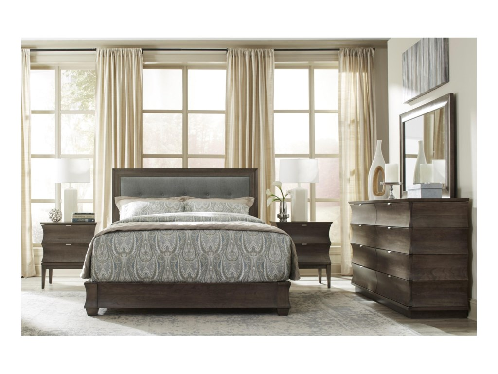 Durham CascataKing Upholstered Bed