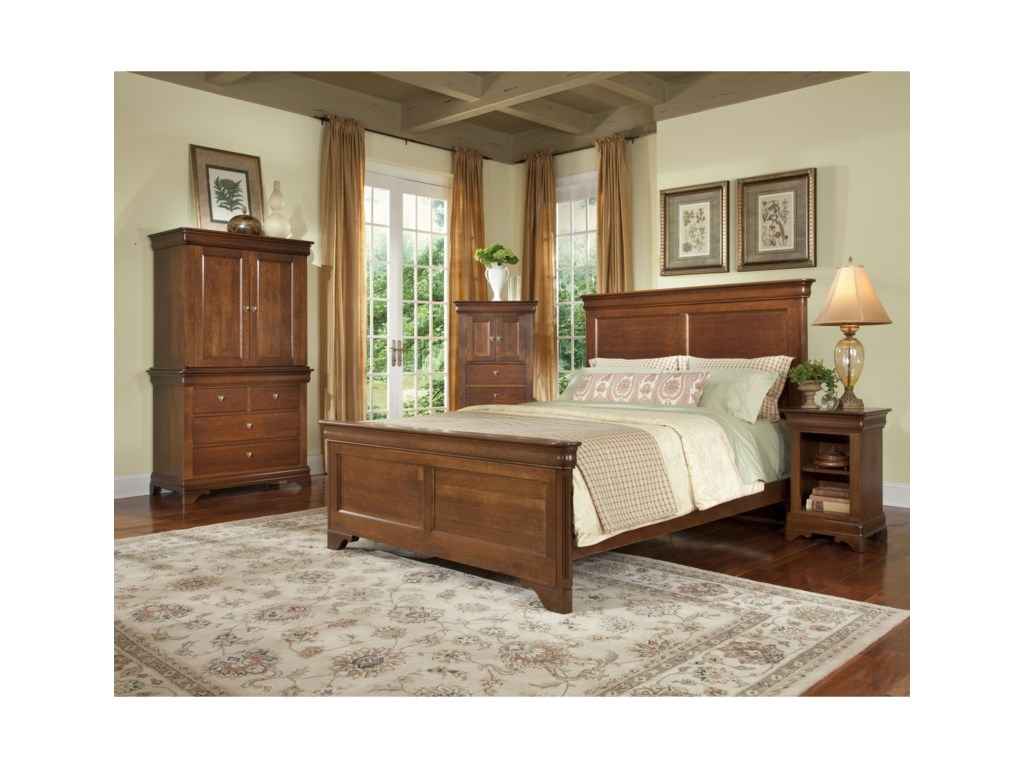 Durham Chateau FontaineQueen Panel Bed
