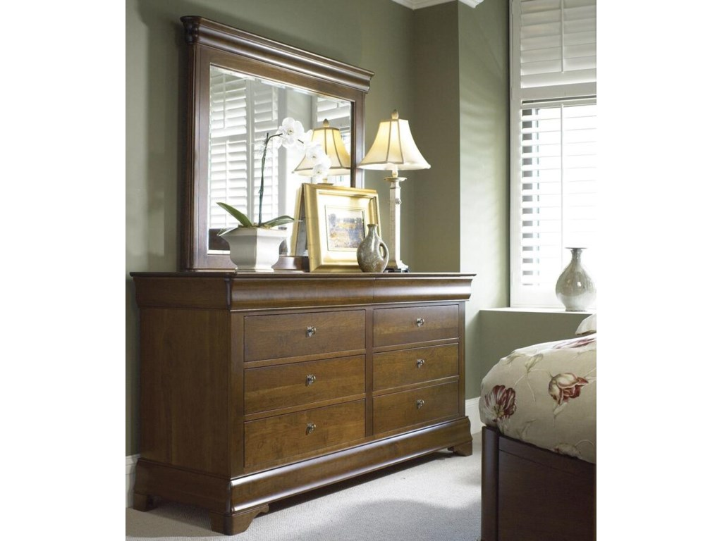 Durham Chateau FontaineDouble Dresser & Mirror