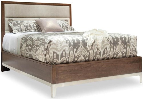 Durham Defined Distinction King Upholstered Bed with Stainless Steel Base
