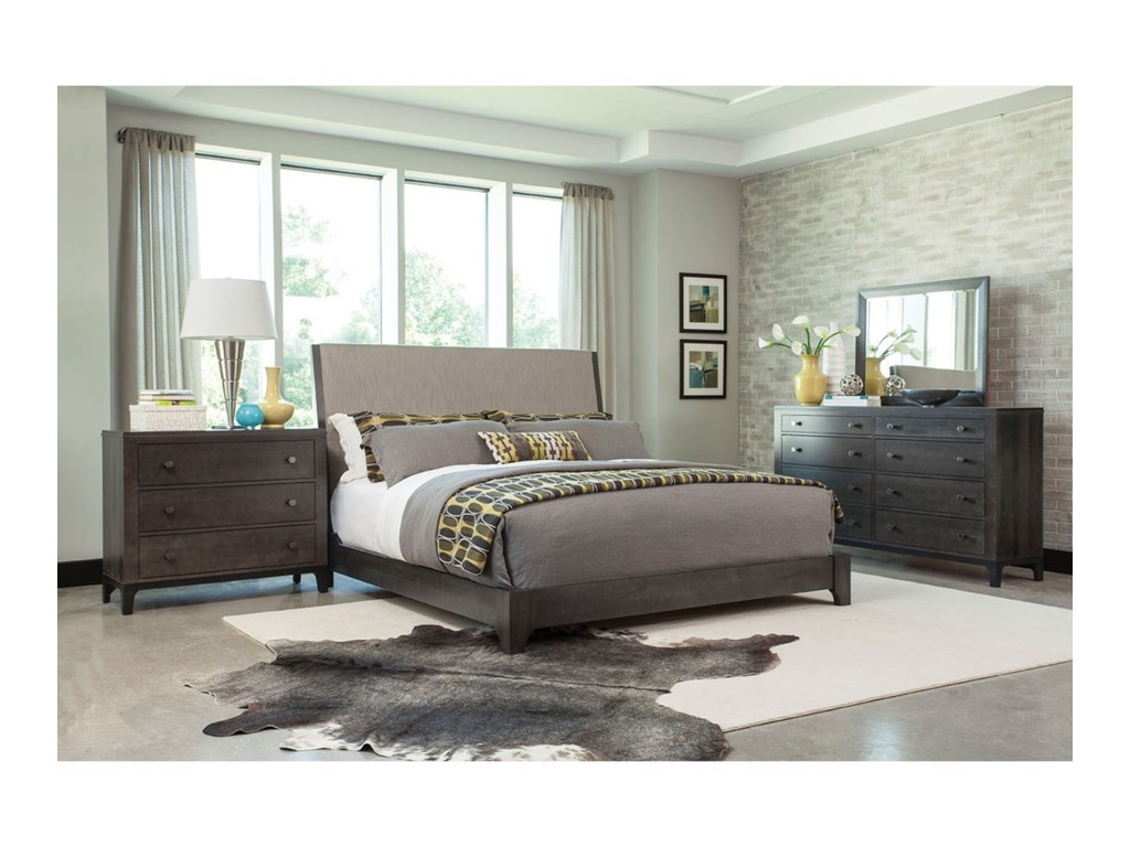 Durham Front StreetKing Upholstered Bed