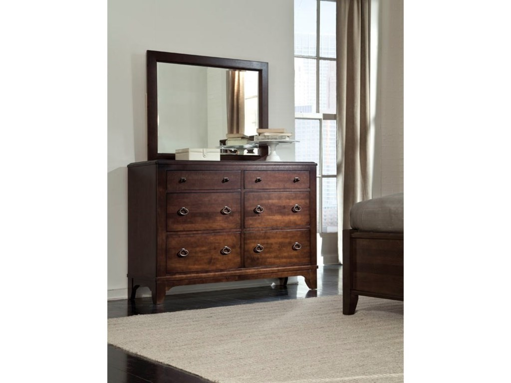 Durham Glen TerraceDouble Dresser with Media Drawer