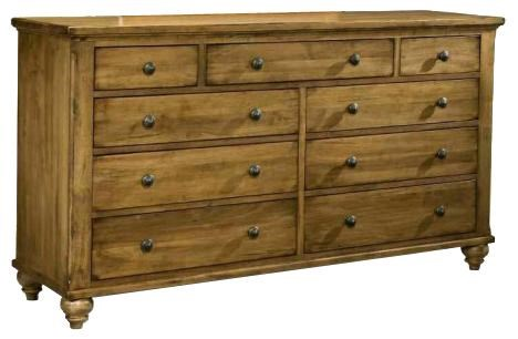 Durham Hudson Falls Traditional Triple Dresser with Nine Storage Drawers & Durham Hudson Falls Traditional Triple Dresser with Nine Storage ...