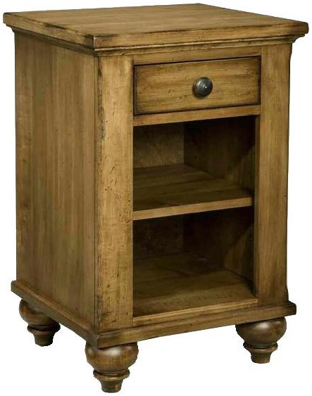 Durham Hudson Falls  Classic Styled Night Table with Shelf and Drawer