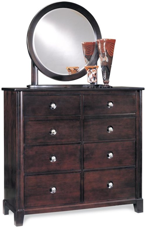 Durham Manhattan  Dressing Chest & Mirror Combo