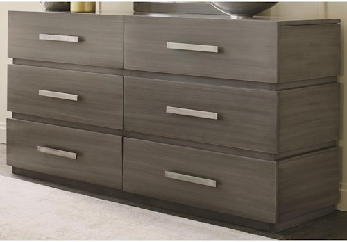 Durham Modern Simplicity Double Dresser with 6 Drawers