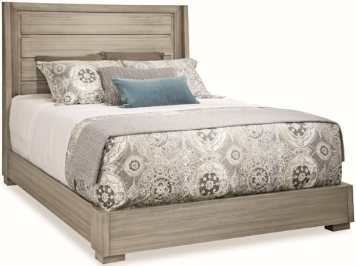 Durham Modern Simplicity Queen Panel Bed with Low Profile Base