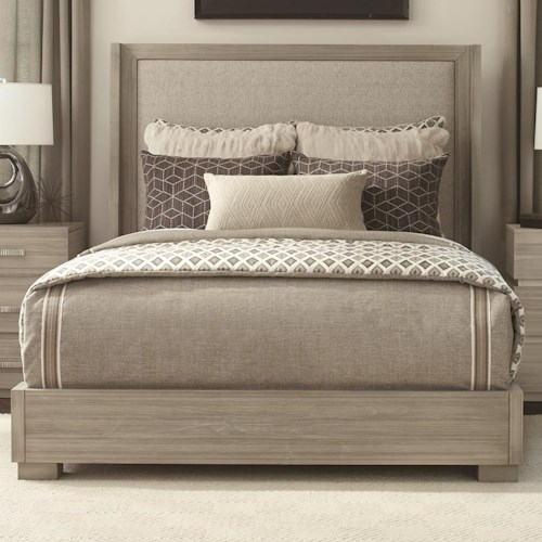 Durham Modern Simplicity Queen Upholstered Bed with Low Profile Base