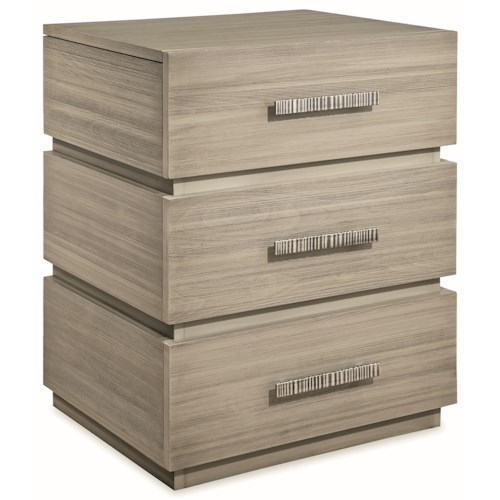Durham Modern Simplicity Night Stand with 3 Drawers