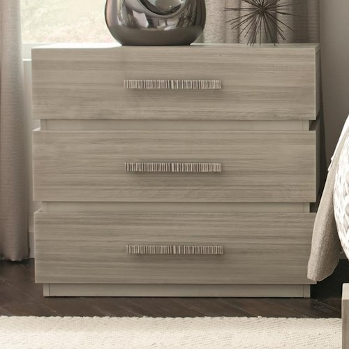 Durham Modern Simplicity Bedside Chest with 3 Drawers
