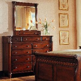 Durham Mount Vernon Dresser with Dressing Mirror