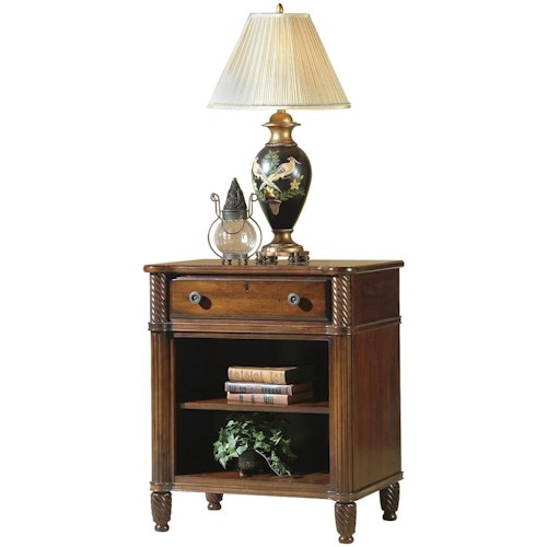 Durham Mount Vernon Open Night Stand with 1 Drawer and 1 Adj. Shelf