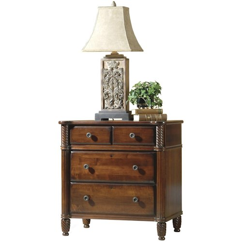 Durham Mount Vernon Night Stand with Four Drawers
