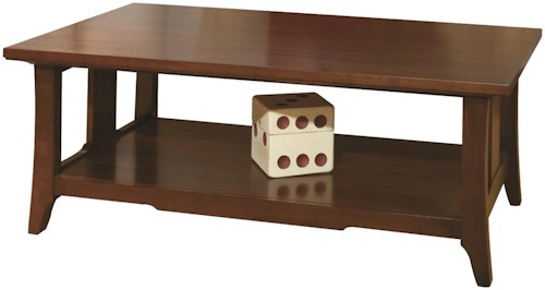 Durham Occasional Tables Durham Westwood Cocktail Table with Open Bottom Shelf