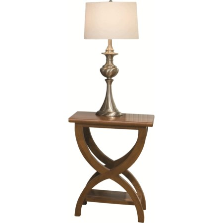 Transitional Chairside Table