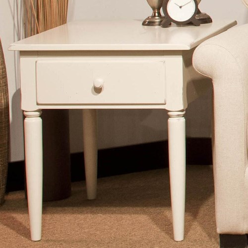 Durham Occasional Tables Durham Rustic Cottage Drawer Lamp Table Made of Solid Maple